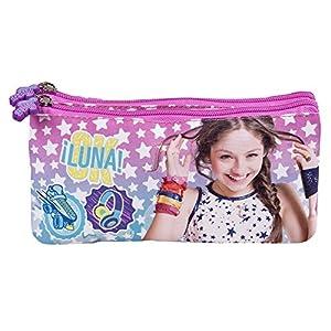 516B3DUIrAL. SS300  - Estuche-escolar-Nia-Disney-Soy-Luna-Bolsa-portatodo-para-lapices-con-estrellas-blancas-Practico-estuche-portatodo-con-doble-cremallera-para-la-escuela-y-de-viaje-Rosa-y-Azul-10x21x6-cm-Perletti
