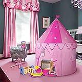 WolfWise 100x140cm Tienda de Campaña Infantil con Estrellas en Oscuro Castillo de Princesa Tienda de casa Rosado (120)
