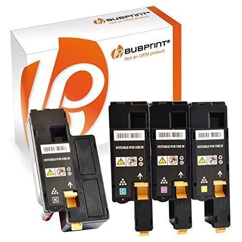 Bubprint 4 Toner kompatibel für Dell 593-11130 593-11129 593-11128 593-11131 für C1660 W C1660W C 1660 W Schwarz Cyan Magenta Gelb -