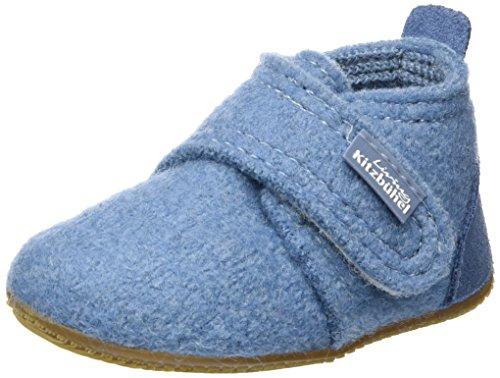 Living Kitzbühel Babyklettschuh mit Velour - Zapatos de primeros pasos de lana Bebé - unisex, color gris, talla 20