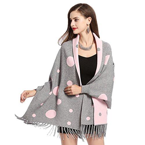 YuanDian Mujer Puntos Fleco Suéter Capes