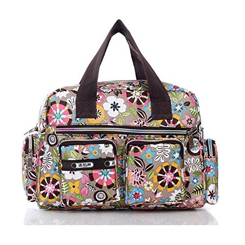 Cartoon Tasche (Frauen Handtaschen Schulter wasserdichte Tuch Casual Messenger Bag Bunte Cartoon-Muster Damen Tasche)