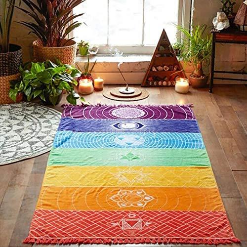 CompraJunta Bohemian Stil Wandteppich, psychedelisches indisches Design, Wohndekoration, Yoga-Matte, Strandtuch, Crossrock 150 * 75cm (78,5 * 59 Zoll),150 * 75cm