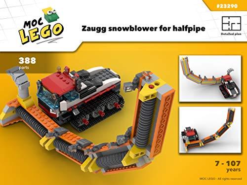 Zaugg snowblower forsnowboard halfpipe (Instruction Only): MOC LEGO (English Edition)