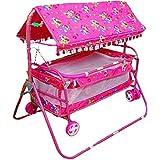 Avani MetroBuzz Baby Cradle Cot Cum Stroller Pink