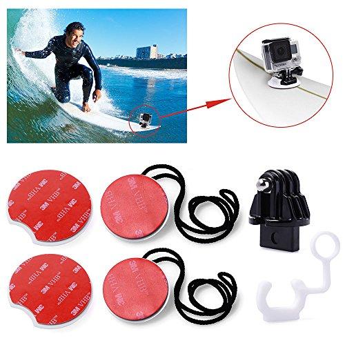 micros2u 8Stück Surfen Surfbrett Surf Pack Tethers Halterungen für GoPro Hero