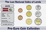 IMPACTO COLECCIONABLES Lettland, 8 Münzen - Jahr 1992-2009 - Lati Blistercard