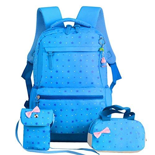 3 Stück 2018 Neuen Stil Grundschul Mädchen. Leinwand Modische Handtaschenl Campus Rucksack Studenten Backpack Schüler Schultertasche Schulbag Knapsack -
