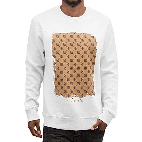 Dangerous DNGRS Homme Hauts / Pullover A Lot Of Logos Blanc