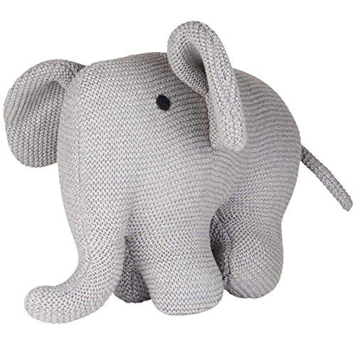 IB Laursen - Kuscheltier, Stofftier - 100% Baumwolle - Elefant - handgestrickt, Strick