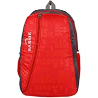 Sassie Red & Gray Smart School Bag (31 Litres) (SSN-1031)