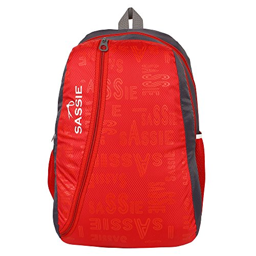 SASSIE Polyester 31Litres Red School Backpack