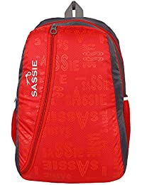 SASSIE Polyester 31Litres Red School Backpack (47 x 32 x 23 CM)