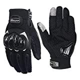 #7: Pitzo Probiker Tribe Full Finger Riding Gloves (Black, Medium)