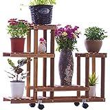 $Regal Hölzerne Blumen-Zahnstangen, Balkone Bodenbelag-hölzerne Stände, Innen- und im Freienblumentöpfe, Betriebsregale u. Bonsais-Rahmen