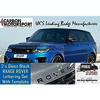 carbon motorsport Cartel Negro Brillante para Deportes Delantero Evoque Trasero