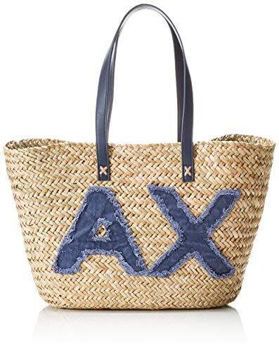 Armani Exchange Natural Straw Bag, Sac de plage femme,...