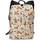 Do Yoga Be Happy Thème Orange Cats Business Laptop Backpack Collège Sac à Dos pour...