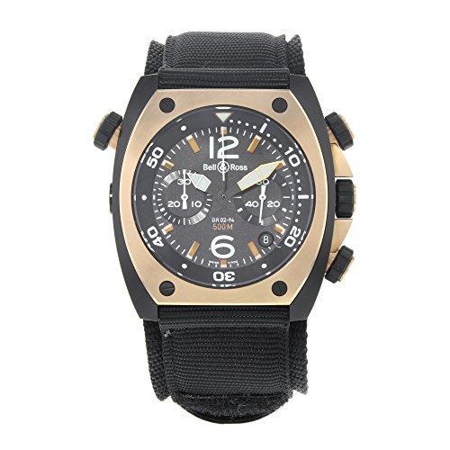 Bell & Ross Marine br02-chr-bicolor matt PVD schwarz Stahl automatische Herren-Armbanduhr