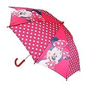 Questo ombrello della casa Disney entusiasmo il mondo delle ragazze. Minnie Mouse si presenta in alternanza con una superficie Rosso a Pois Bianchi, è un vero accroche-regard a ogni passeggiata sotto la pioggia. Grazie al nastro cucito con ch...