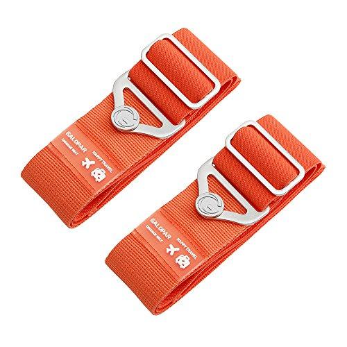 Koffer Gurte, Galopar Koffer Gürtel Verstellbare Elastische Koffer Riemen Reisezubehör Urlaub Essentials -2 Pack Orange