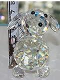 Decorative Crystal Dog with swarovski crystal elements Gift Prsent (7508 Single)