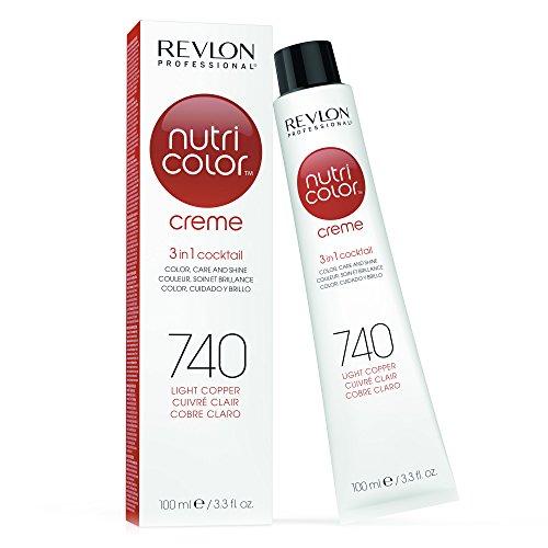 REVLON PROFESSIONAL Nutri Color Crème, Nr. 740 Light Copper, 1er Pack (1 x 100 ml) - Revlon Creme