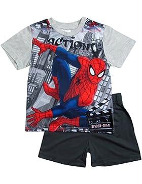 Spiderman Pyjama Kollektion 2017 Shortie 98 104 110 116 122 128 Shorty Kurz Jungen Sommer Neu Schlafanzug Marvel...