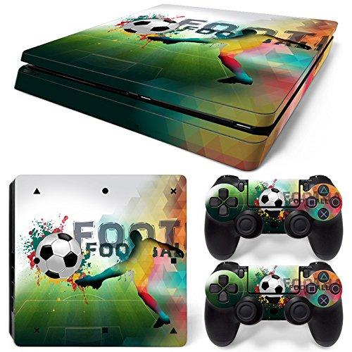 46 North Design Ps4 Slim Playstation 4 Slim Pegatinas De La Consola Football + 2 Pegatinas Del Controlador 516BDIvfeAL