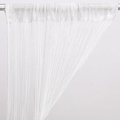 Rideau fil Décoration Maison 200 x 100 CM (blanc)