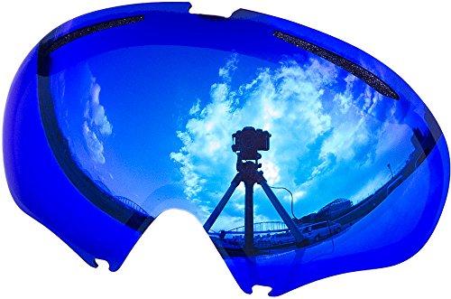 Lentes de repuesto para Oakley A FRAME2.0gafas para la nieve, Blue Mirror