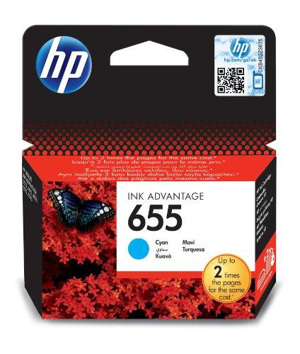 HP 655 cyan Original Tintenpatrone (Dye Cyan Hp)
