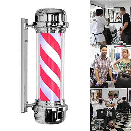 Barbierstab Friseursalon Schönheitssalon Retro rotierende Lampe Friseursalon hohe Härte an der Wand montiert wasserdichte Zeichen Leuchtkasten 110/220 V