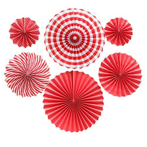 Asien 1 Satz Hängende Papier Fan Blumen-Party-Dekoration Tissue Blumen-Papier Fan Set Garland Versorgung Für Geburtstags-Party-Hochzeit -