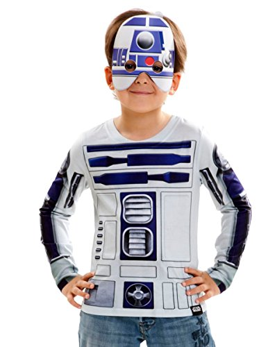 viving Kostüme viving costumes231053 R2D2 Boy Lange Ärmel Shirt (6-8 Jahre, One Size)