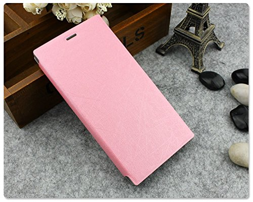 Heartly Premium Luxury PU Leather Flip Stand Back Case Cover For Gionee Elife E7 – Pink