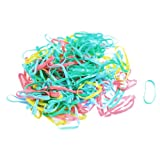 Laides Candy Color Rubber Elastic Hair Band Ponytail Holders 200 Pcs