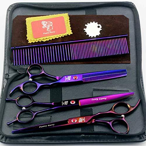 Tijeras para cortar el cabello de color púrpura