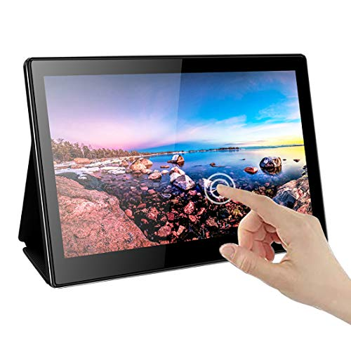 Multi-touch-display (13.3 Inch Portable Monitor,10 Points Multi-Touch 1920×1080 16:9 Display with USB C/HDMI Video Input,Dual Speakers,Compatible with Windows 7 8 10,Raspberry Pi 3B+ PS3,PS4,Xbox,Nintendo Switch Etc)