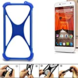 K-S-Trade Handyhülle für Swees Godon X589 Silikon Schutz Hülle Cover Case Bumper Silikoncase TPU Softcase Schutzhülle Smartphone Stoßschutz, blau (1x)