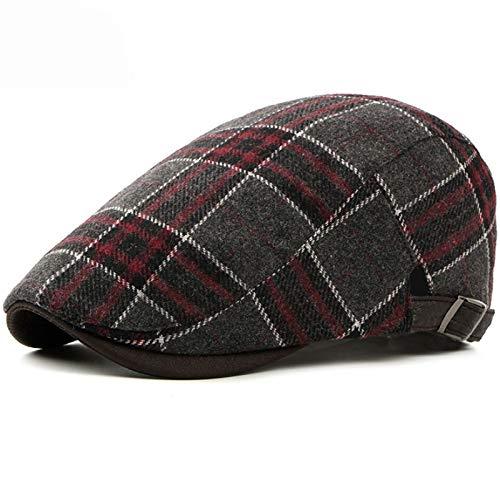 Winter für Männer Frauen Baskenmütze Cap Vintage Retro Plaid Ivy Newsboy Flat Cap Wolle Baskenmützen ()