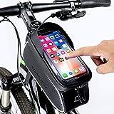 Tomuku Sacoche Vélo Téléphone Etanche, Support Téléphone Cadre Top Tube Sacoche...