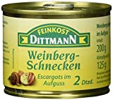 Feinkost Dittmann Weinbergschnecken, Escargots im Aufguss, 2 Dutzend, 2er Pack (2 x 200 g)