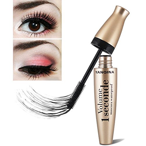 Shemrow 3D mascara waterproof Liquid Fiber Long Black Eye Lashes ciglia curling mascara Brush
