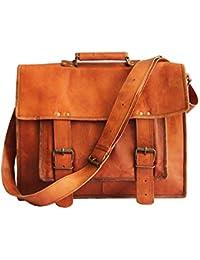 Leather Bag - Vintage Genuine , Orignal Leather Laptop Bag By Bag House - B07C1D9KMN