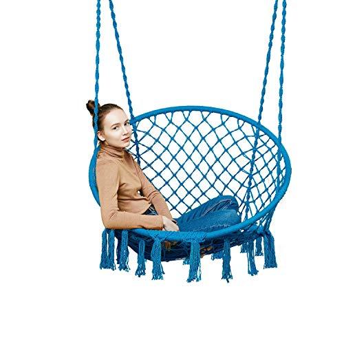 Hängesessel Hängestuhl Hängesitz Schaukel Stuhl Hängematte Indoor Hängematte Schlafzimmer Dekor for Teen Girls Teen Girl Room Decor Wohnzimmer Stühle (blau) | Wohnzimmer > Stüle > Schaukelstühle | GLY