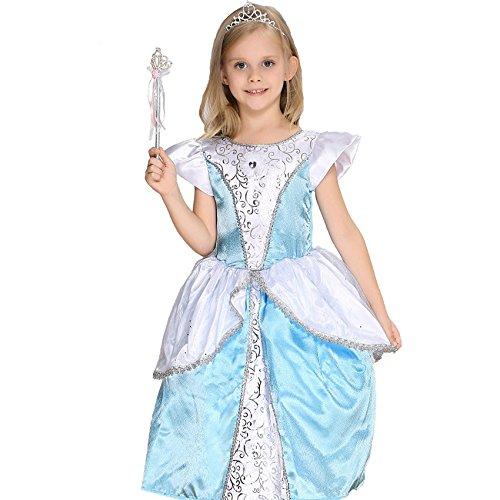 Halloween kostüm Kinder Cosplay Kleider Süße Prinzessin Cinderella Kleid, 95 cm (95 cm 3-4 (Kostüme Jahreszeiten Halloween Vier)