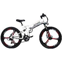 GTYW 26 Pulgadas Bicicleta Plegable Eléctrica Bicicleta De Montaña Adulto Bicicleta Eléctrico Litio Adulto Plegable Mini
