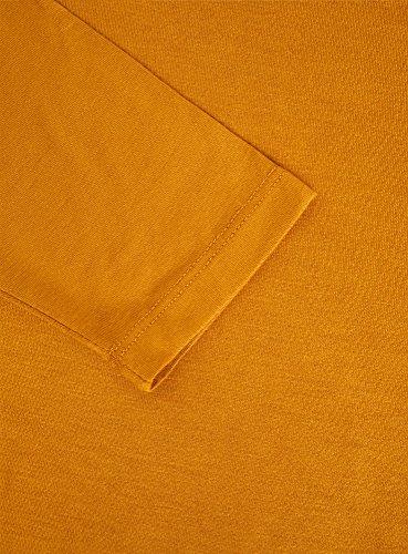 oodji Ultra Damen Rollkragenpullover Basic mit 3/4-Ärmeln Gelb (5700N)