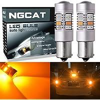 Ngcat 1800lumen 14SMD 3020CREE 7507BAU15S 1156PY P21W lampadine LED per auto di segnalazione lampadine coda freno luci di stop, DC 10–16ambra (confezione da)